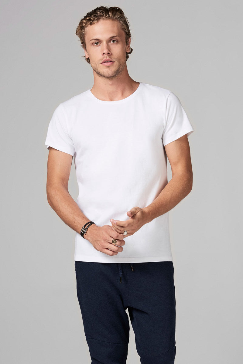 Men's Heavy Cotton Crew Neck Tee