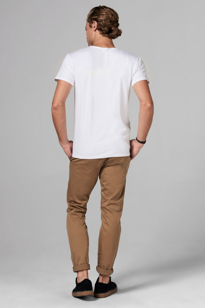 Men's Heavy Cotton Pocket Sailor Crew Neck Tee
