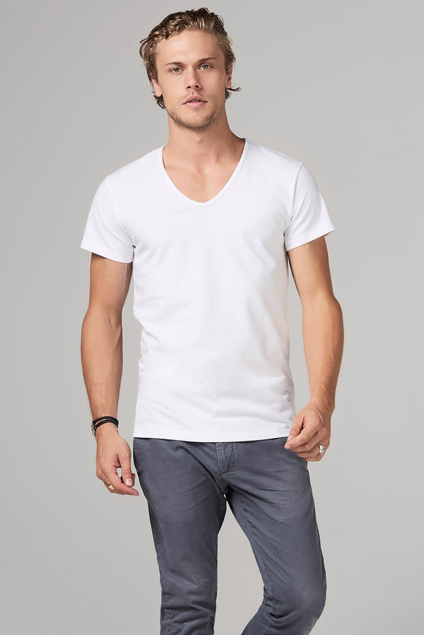 Men's Heavy Cotton V-Neck Tee