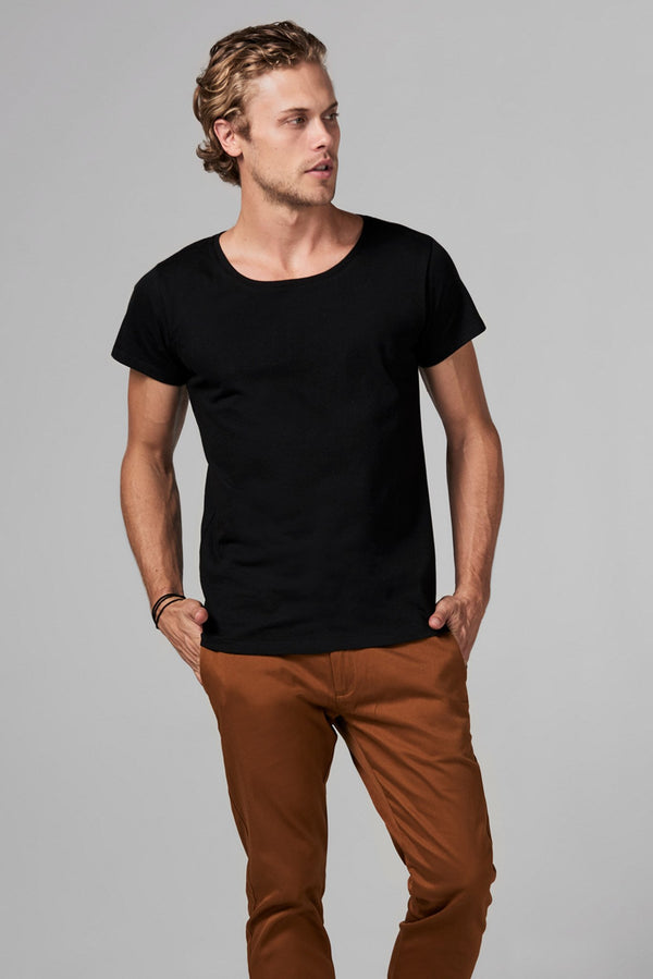 Men's Heavy Cotton Wide Neck Tee