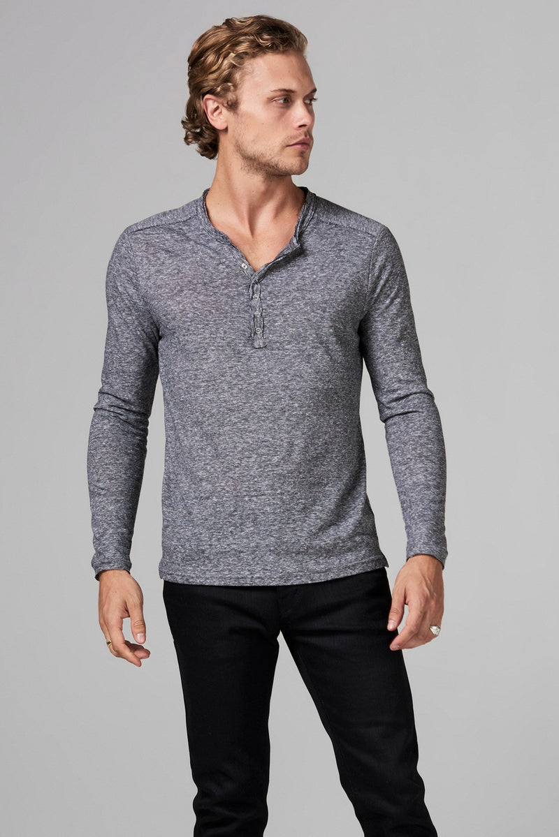 Men's Long Sleeve Henley