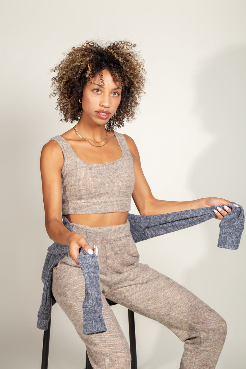 Quinn Cropped Soft Knit Sweater Tank