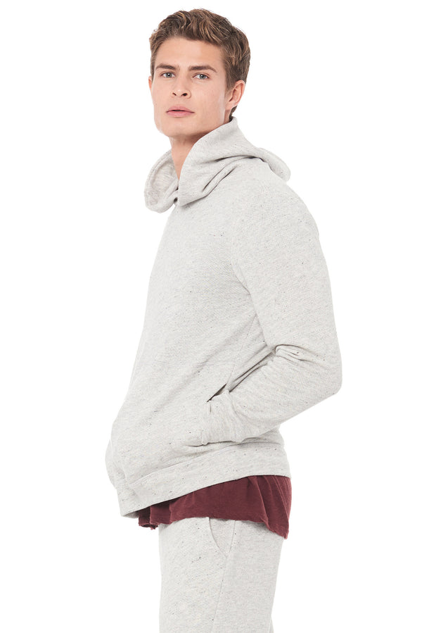 MEN'S LIGHT HEATHER GREY PULLOVER HOODIE