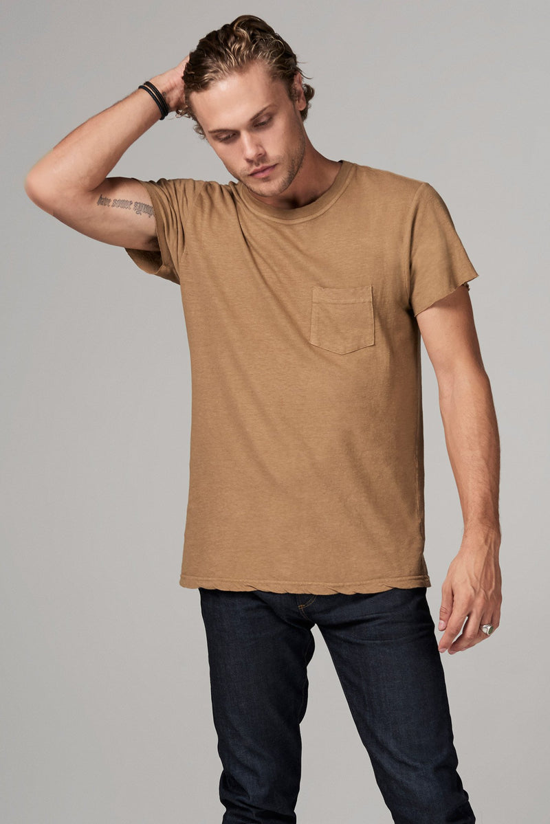 Men's Linen Blend Pocket Tee