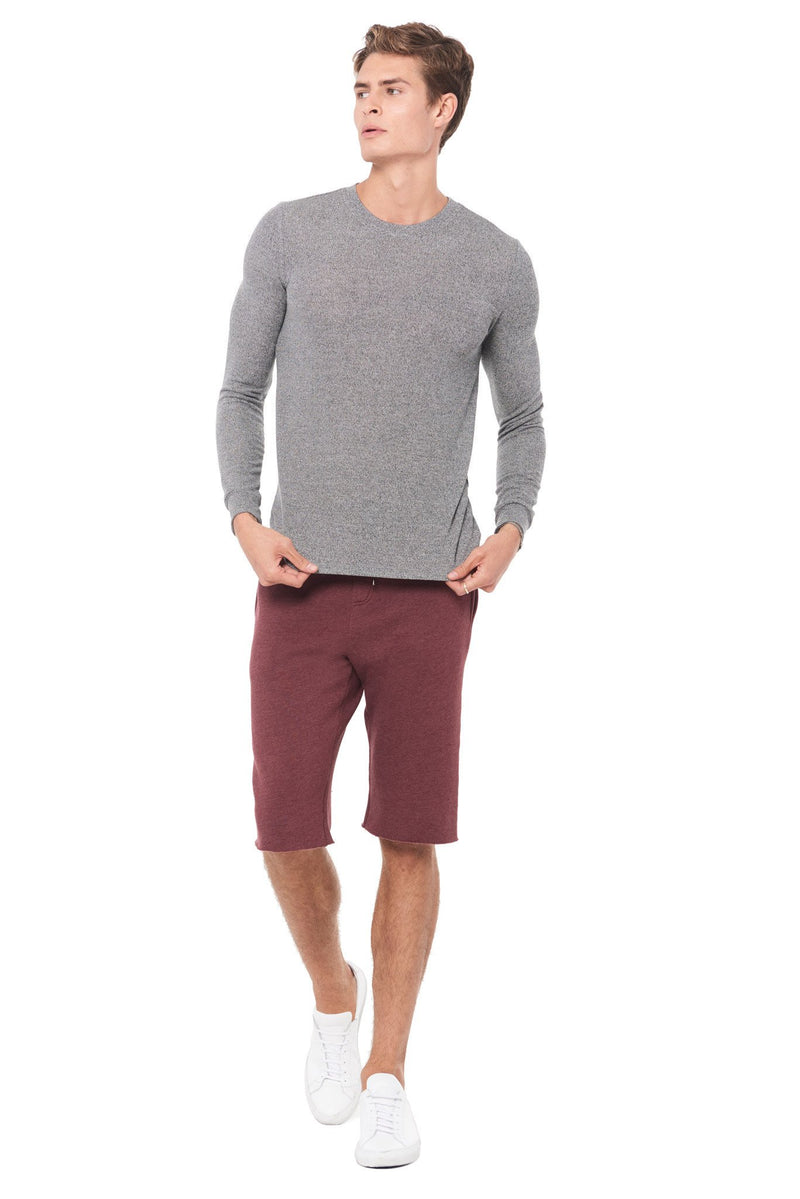 Men's Novelty Texture Long Sleeve Pullover