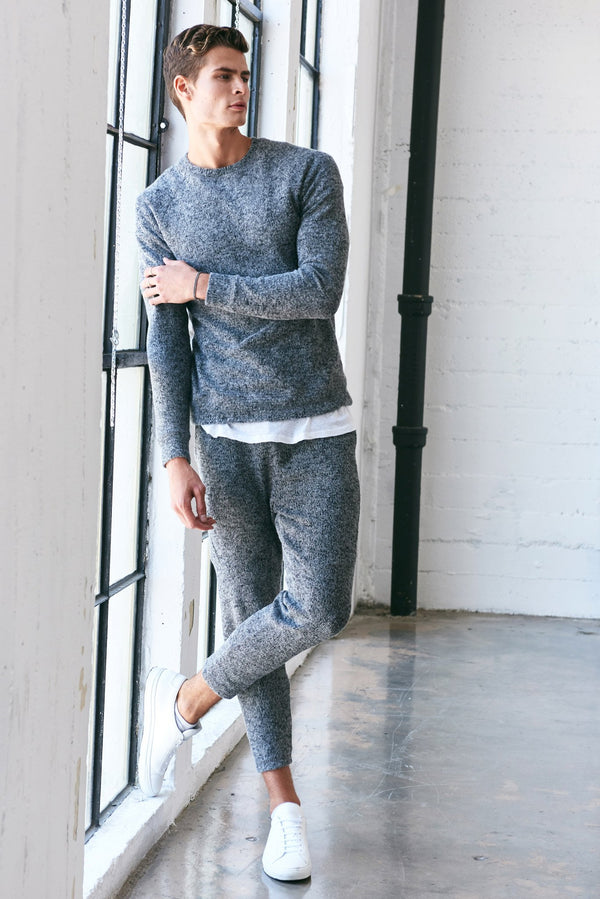 Men's Melange Knit Jogger Pant