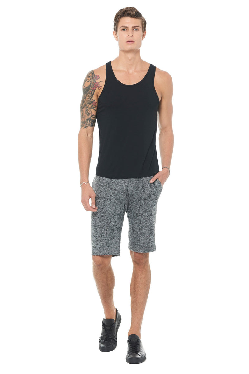 Men's Soft Knit Melange Shorts