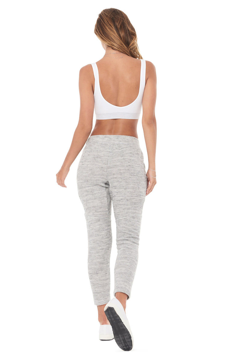 WOMEN'S MELANGE KNIT JOGGER PANT - HEATHER
