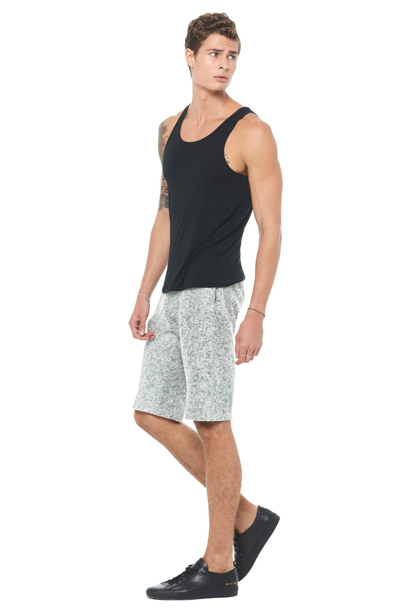 Men's Melange Knit Shorts