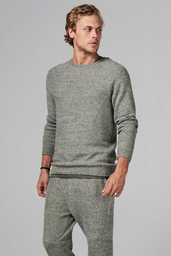 Men's Soft Knit Melange Pullover Sweater