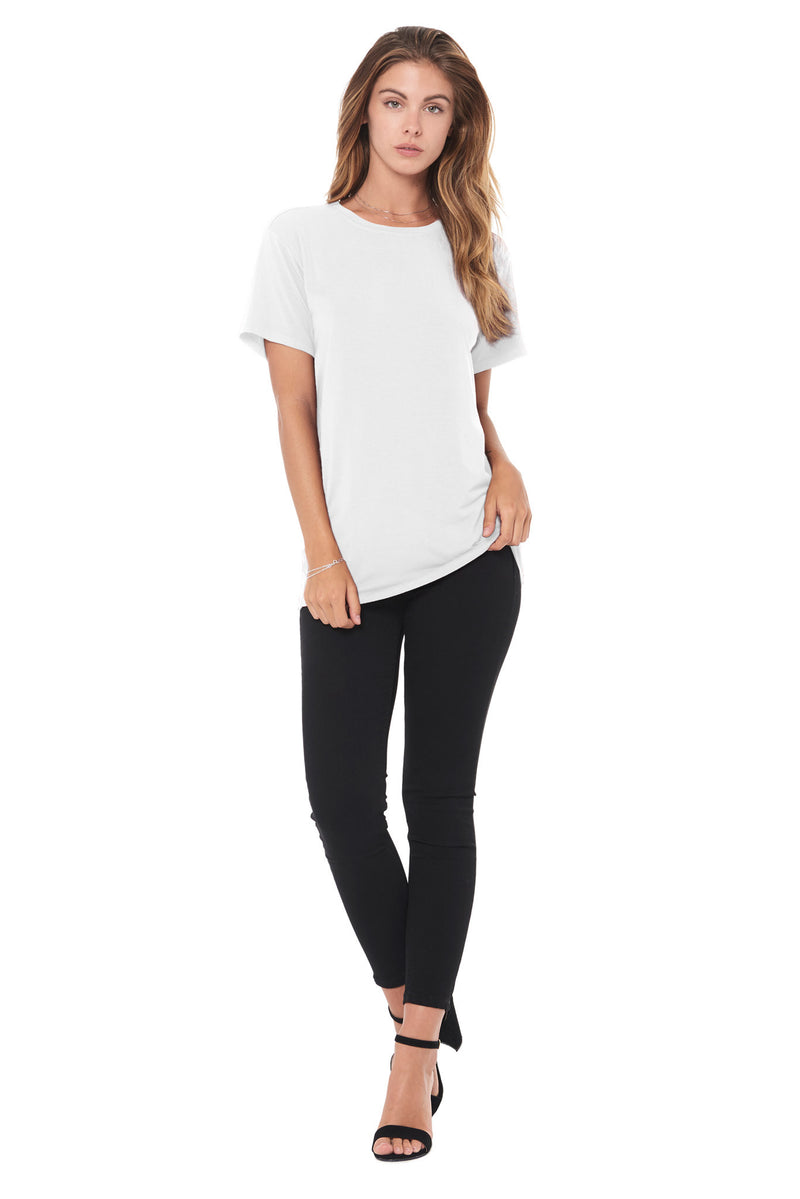 WOMEN'S MODAL CREW NECK TEE - WHITE
