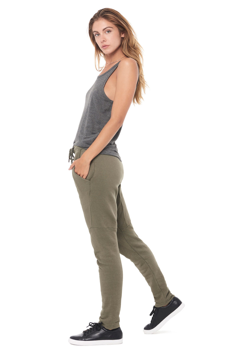 WOMEN'S MODAL SCOOP NECK TANK TOP - HEATHER GREY