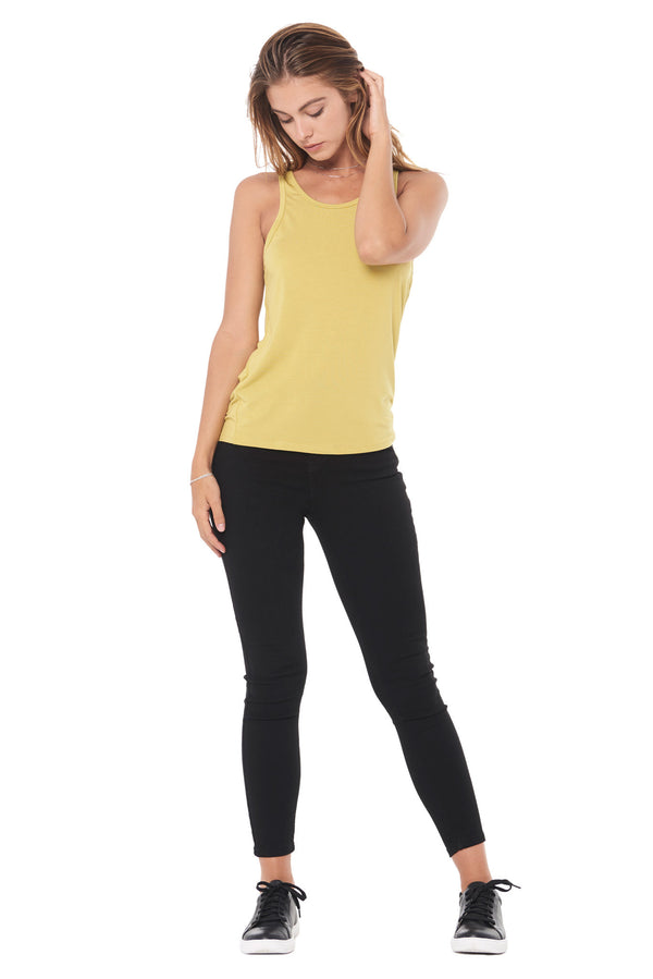 WOMEN'S MODAL SCOOP NECK TANK TOP - MOSS