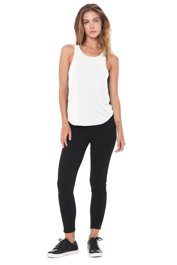 WOMEN'S MODAL SCOOP NECK TANK TOP - WHITE