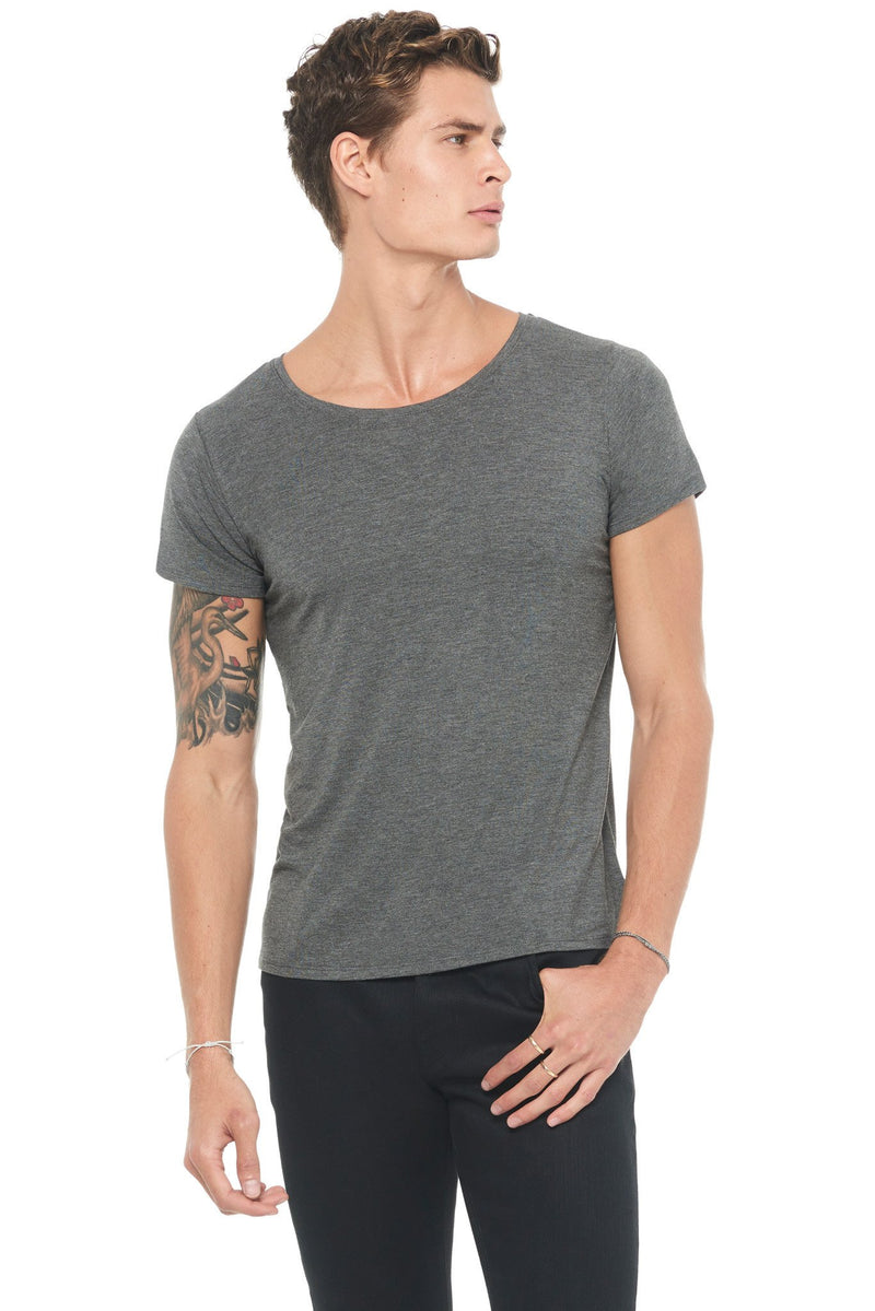 Men's Modal Wide Neck Tee