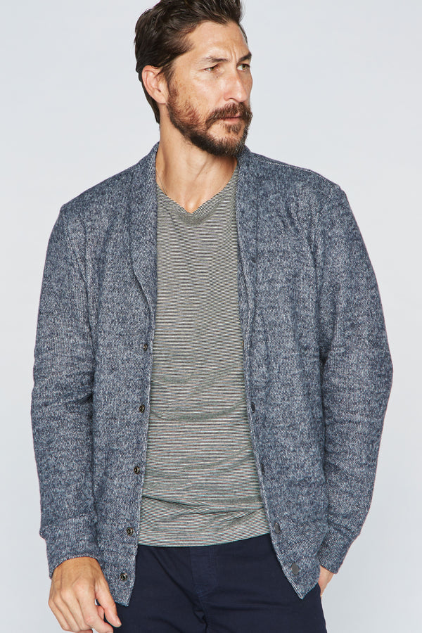 Men's Soft Knit Melange Cardigan Sweater