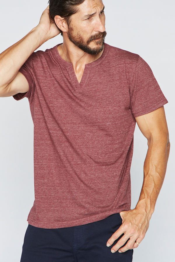 Men's Tri-Blend Cross V-Neck Tee
