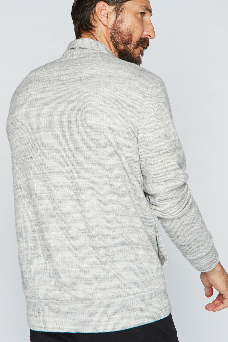 Men's Melange Knit Cardigan Sweater