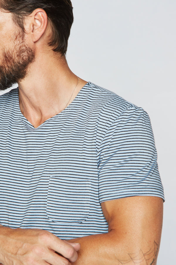 Men's Sailor Pocket Stripe Tee - Blue/Black