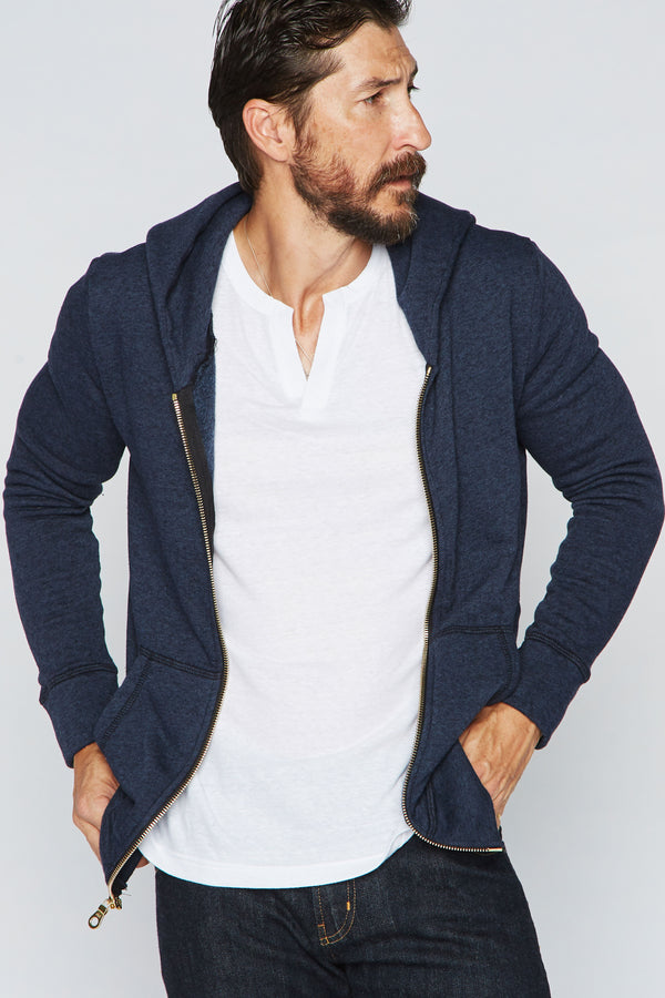 Men's French Terry Zip Front Hoodie