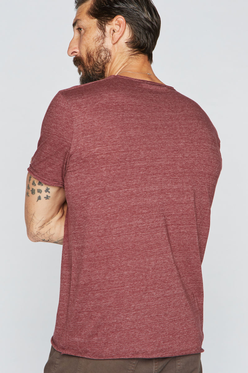 Men's Tri-Blend Patch Sleeve Tee