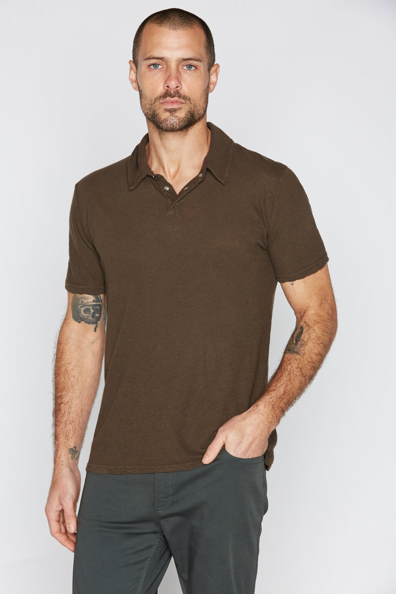 Men's Cotton Linen Polo Shirt