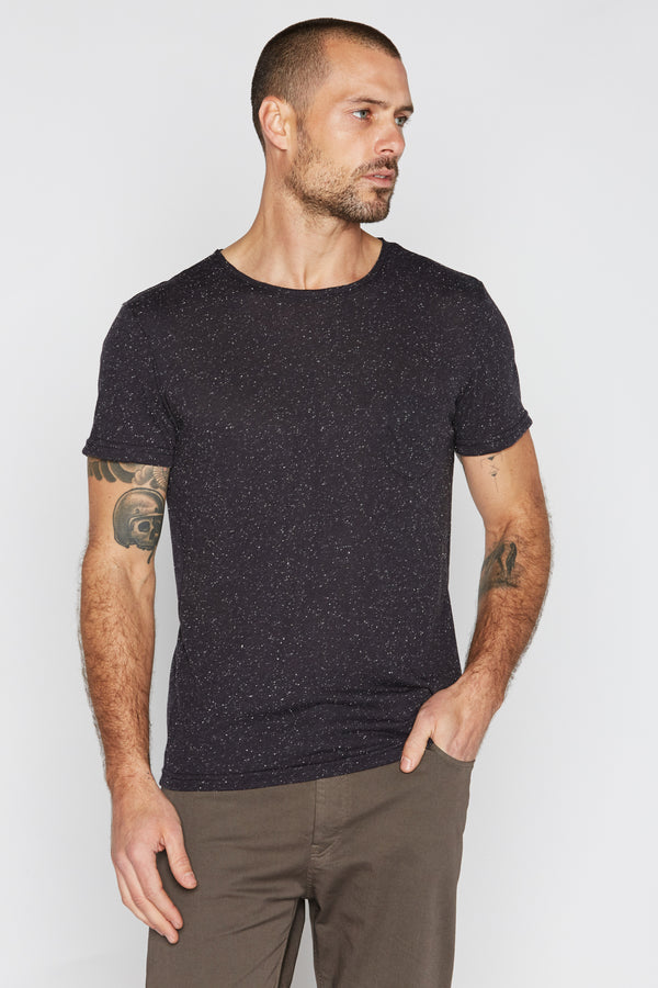 Men's Pocket Sailor Tee - Multi-Dot Black & White