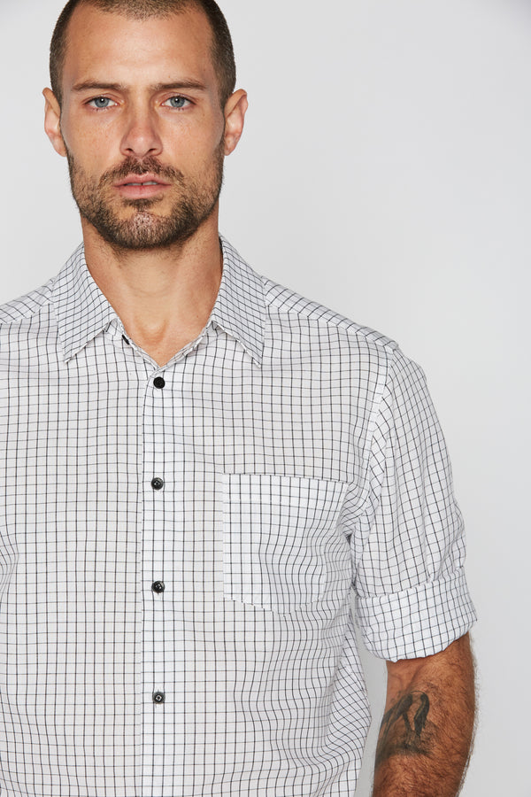 Men's Checkered Cotton Button Up Shirt