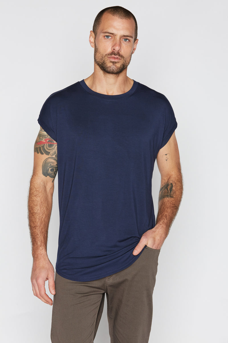 Men's Modal Curved Bottom Crew Tee