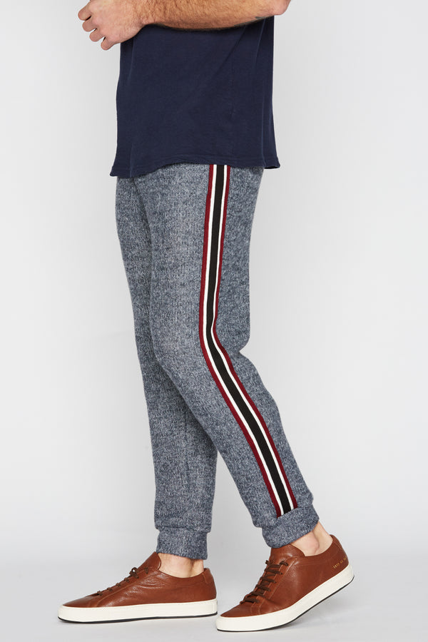 Men's Melange Stripe Side Pant