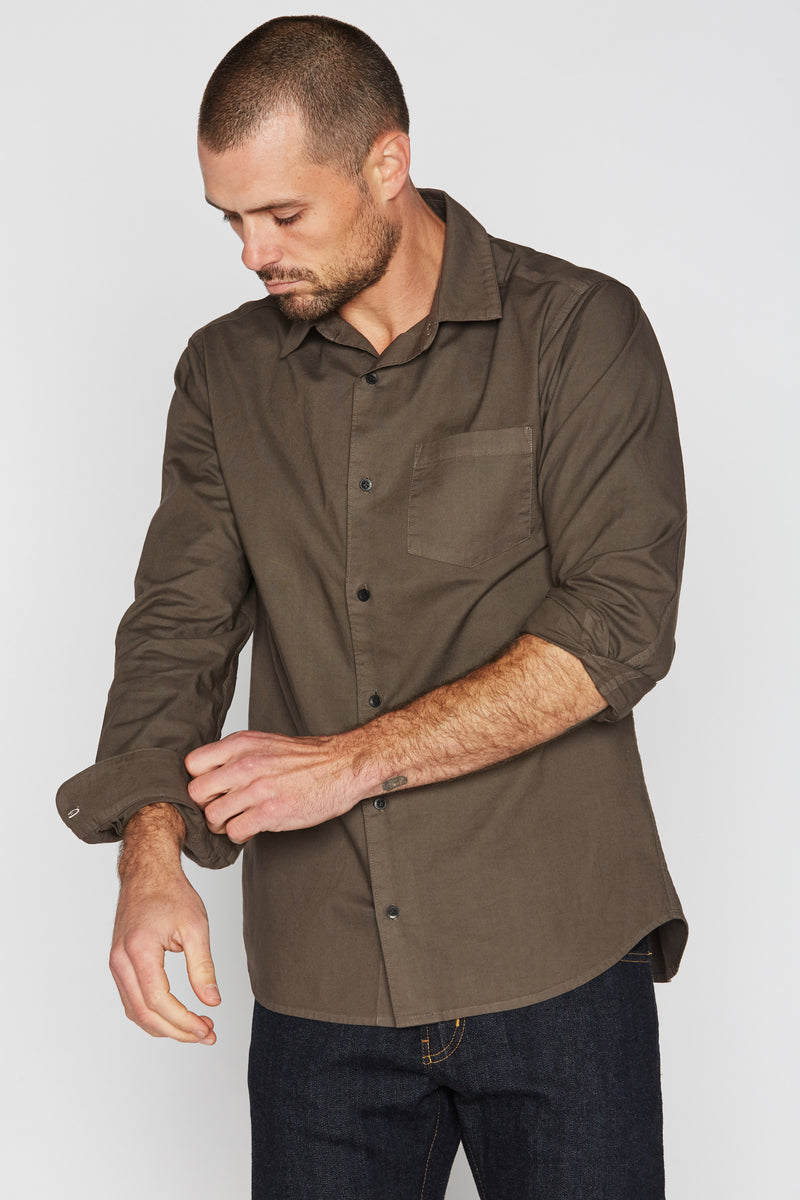 Men's Cotton Button Up Shirt