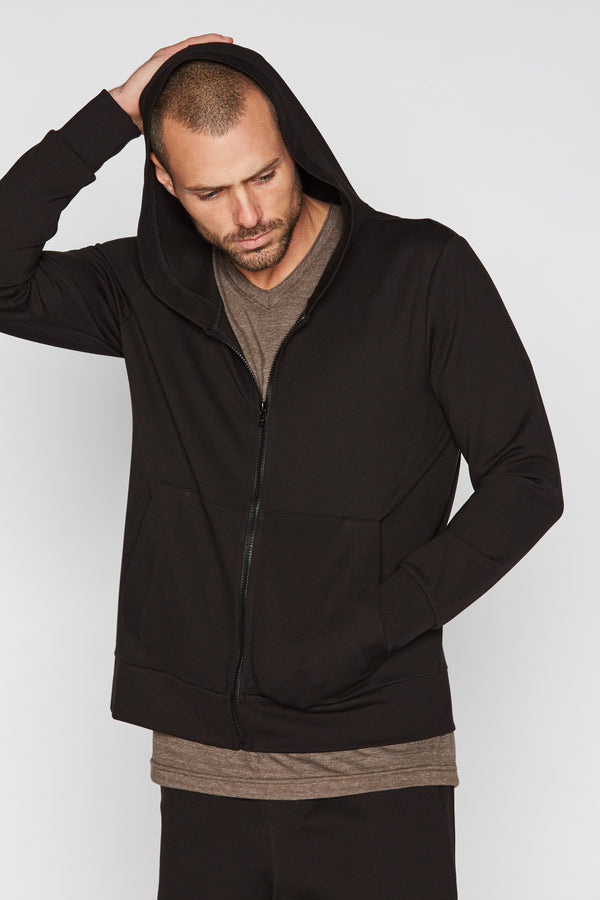 Men's Performance Ponte Zip Front Hoodie