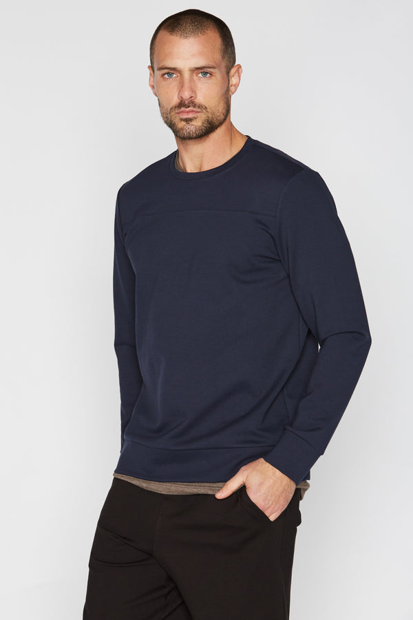 Men's Performance Ponte Top Stitch Crew Neck Sweatshirt