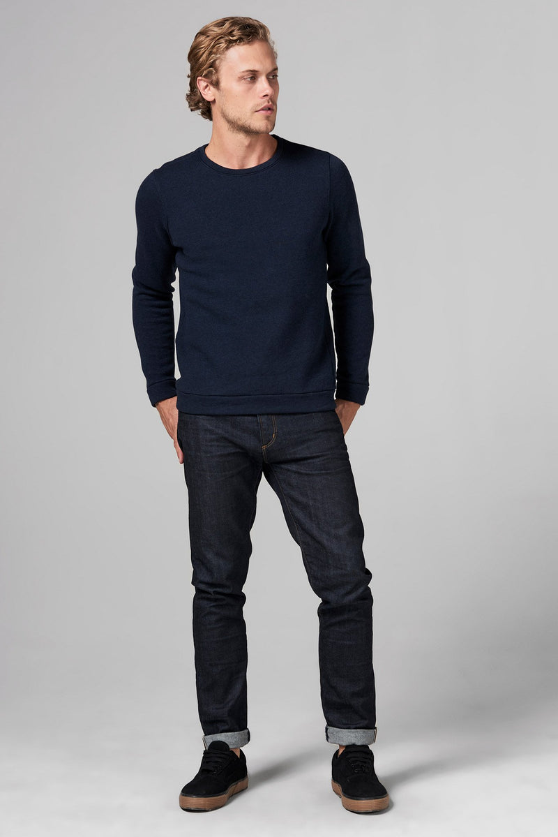 Men's French Terry Patch Sleeve Sweatshirt