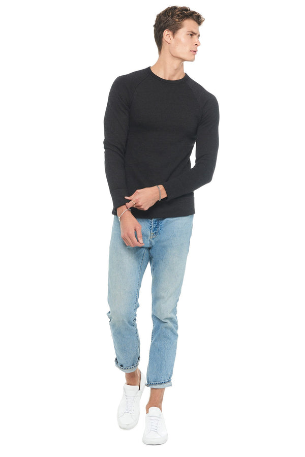 Men's French Terry Relaxed Fit Crew Neck Sweatshirt