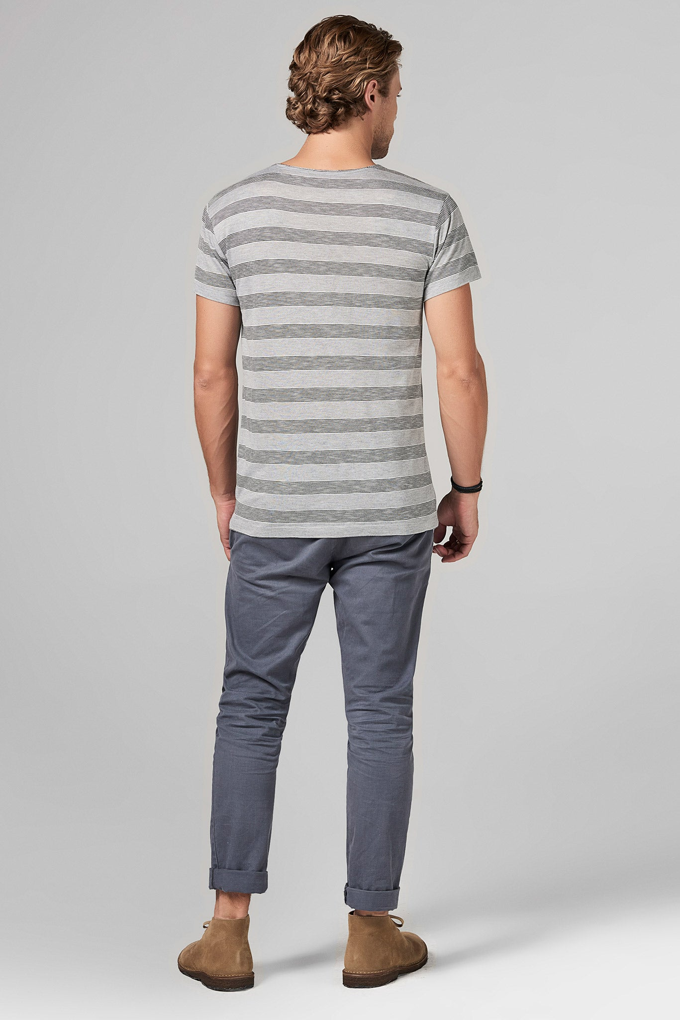 MEN'S POCKET SAILOR CREW NECK TEE - RETRO STRIPE