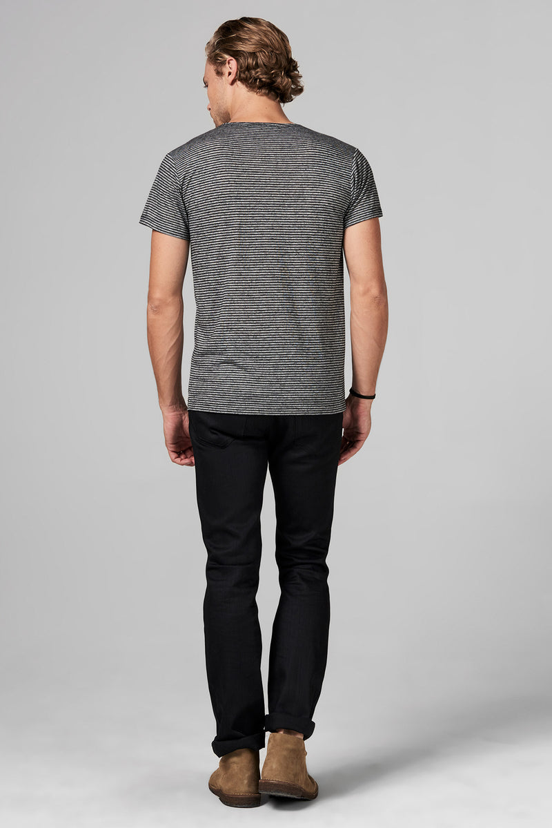 Men's Pocket Sailor Crew Neck Tee - Thin Stripe