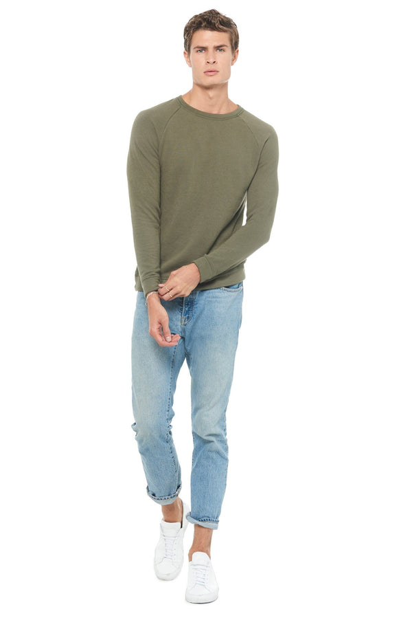 Men's French Terry Slim Fit Crew Neck Sweatshirt
