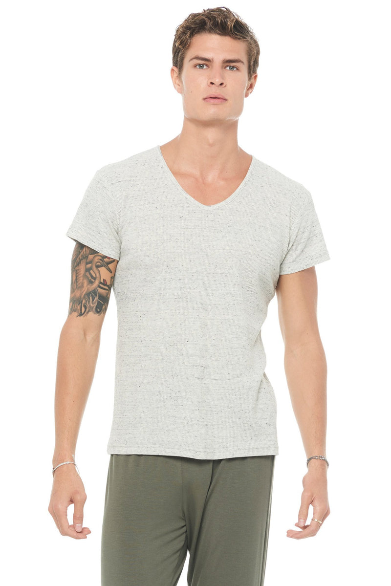 Men's Novelty Texture V-neck