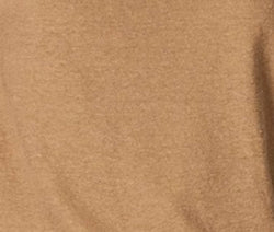 WOMEN'S LINEN BLEND CROSS V NECK TEE - CAMEL
