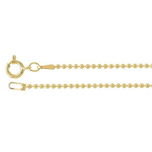 1.5mm 14/20 Gold Filled Bead Chain