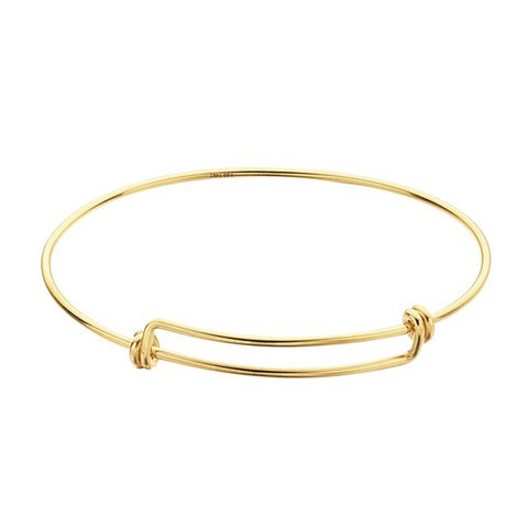 1.6mm 14/20 Gold Filled Expandable Bangle Bracelet