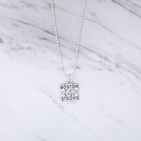 Small 26.2 Boston Strong Charm