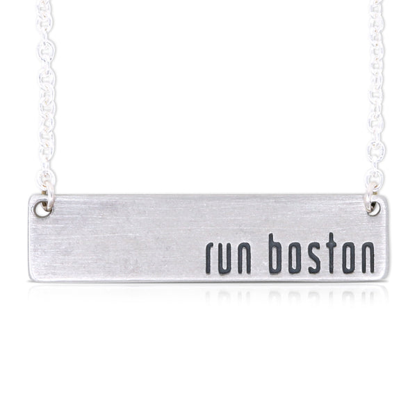 Run Boston Bar Necklace