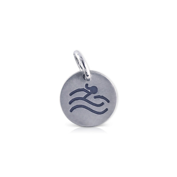 "Small Round ""swimmer"" Charm"
