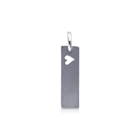 "Rectangle ""heart 2 run"" Charm"