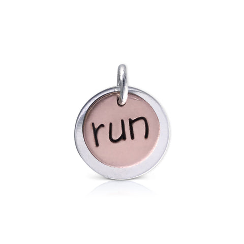 "Copper Round ""run"" Charm"