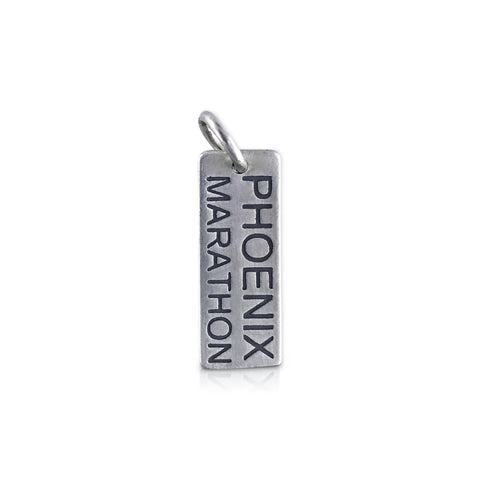 "Rectangle ""Phoenix Marathon"" Charm"