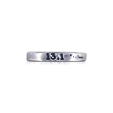 "Handstamped ""13.1"" Ring"