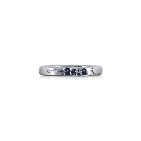 "Handstamped ""26.2"" Ring"